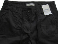 New Womens Marks & Spencer Black Crop Trousers Size 14 12