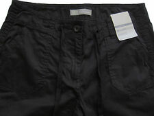 New Womens Marks & Spencer Black Crop Trousers Size 16 14 12 10