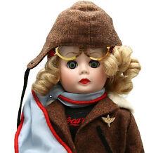 "Madame Alexander Danbury Mint Coca Cola 14"" Porcelain Doll Aviator Pilot Goggles"