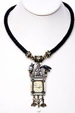 KIRKS FOLLY NEVERMORE RAVEN MAGNETIC INTERCHANGEABLE NECKLACE  brasstone