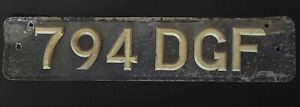 Old Vintage Number Plate - 794 DGF
