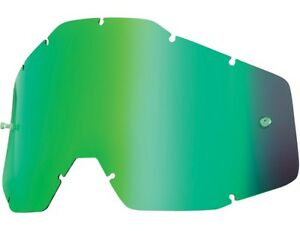 100% - Replacement Green Mirror Lens for Racecraft Accuri Strata - 51002-005-02