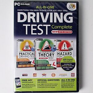 All-In-One Driving Test Complete 2018 Edition (PC DVD-ROM, GSP) New & Sealed