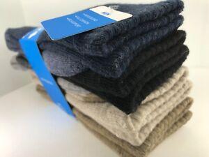 Men's COLUMBIA MultiColor 8% WOOL Cushioned Crew Socks - 4 Pack - $36 MSRP 🥾🌲