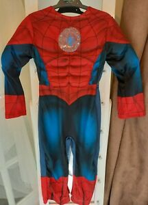 BOYS SIZE 3-4 YEARS AVENGERS SPIDERMAN COSTUME GOOD CONDITION