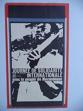OSPAAAL Political Poster SOLIDARITY PEOPLE MOZAMBIQUE ORIGINAL 1966 33 X 53 CM
