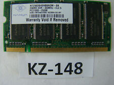 Nanya NT256D64SH8BAGM-6K 256Mb Pc2700 (DDR-333) DDR SDRAM SO DIMM #kz-148