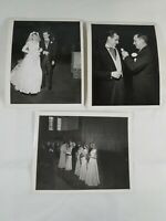 Lot of 3 Vintage Collectible Wedding Pictures Photos 1940's? B&W Bride Groom