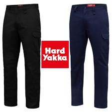Mens Hard Yakka Core Basic Stretch Cargo Pant Pants Work Wear Tradie Black Navy