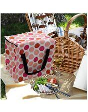 Bolsa nevera aislante grande puntos de colores. Para picnic, camping, exteriores
