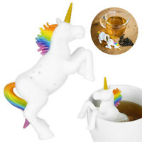 Unicorn Silicone Tea Loose Tea Leaf Strainer Herbal Spice Silicone Filter  Hot