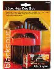 25 PCS HEX ALLEN KEYS SET WITH HOLDER CARBON STEEL HEXAGON  METRIC IMPERI WR266