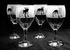 More details for staffordshire bull terrier gift dog wine glasses.  boxed