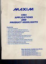 Maxim 1994 Applications & Product Highlights Linear & Mixed Analog-Digital Ics