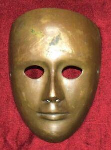 Brass Face Vintage Wall Hanging Handmade Human Mask Antique Wall Decor EK221