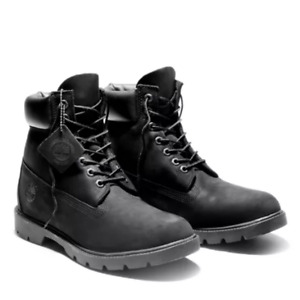 "TIMBERLAND 6"" Mens Classic Waterproof Boot Black Nubuck TB019039"