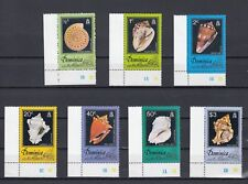 TIMBRE STAMP 7 ILE DOMINICA Y&T#505-11 COQUILLAGE SHELL NEUF**/MNH-MINT 1976~B80