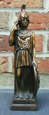 Statue Athéna En Bronze Aohna made in Greece X. E. M, H 26 cm vintage décoration