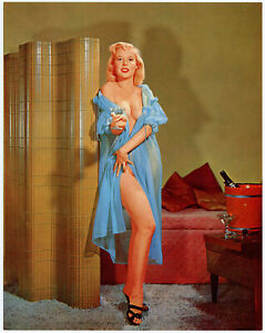 Fine 1960s Betty Brosmer Blonde Champagne Bubbles Photograph Litho Pin-Up Print