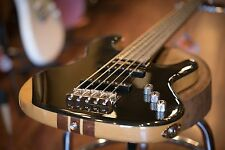 Wolf JB5 Ebony 5 String Jazz Bass Black