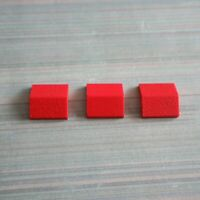 LEGO - Used Condition - 2x2 33 Double Sloped Roof Tile (3300) - Red x 3