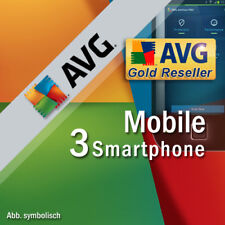 AVG Mobile AntiVirus Security Pro 2019 3 Smartphones 1 Year ANDROID 2018 NL EU