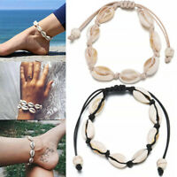 Boho Beach Sea Shell Cowrie Pendant Chain Necklace/Bracelet /Rings Jewelry AU D6