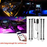 48 LED 4PCS Car Interior Atmosphere Neon Lights Strip Music Control & IR Remote