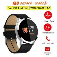 CARDIOFREQUENZIMETRO TRACKER Q8 OROLOGIO SMARTWATCH FITNESS SPORT ANDROID IOS