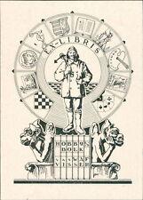 'W.A.F. Visser'  Bookplate  (JC.141)