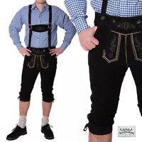 "Klassiker Kniebund Trachten Lederhose ""Andreas"" (schwarz)"