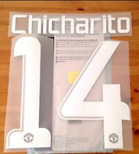 2013-14 Manchester Utd UCL Home Shirt CHICHARITO#14 Sporting iD Name Number Set