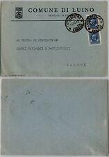 RSI-Marca da bollo coppia 50c(18) usata per posta Luino 16.10.1944