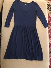 Forever 21 Size Small Navy Blue Dress Stretch Spring 3/4 Sleeve (Ct)