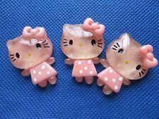 20 Resin Hello Kitty 25*35mm Flatback-Pink