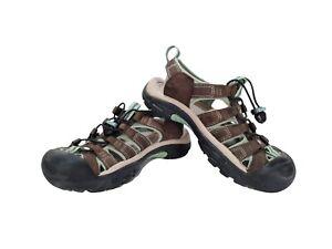 Women's KEEN 1003481 Newport H2 Sandal Waterproof Hiking Brown Blue - Size 6.5