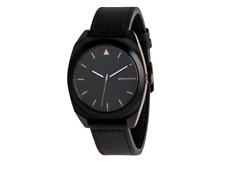 Quiksilver Mens The PM Leather Analogue Watch Black/rose