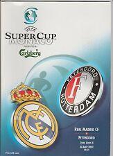 Orig.PRG   UEFA Super Cup 2002   FINALE   REAL MADRID - FEYENOORD ROTTERDAM  !!