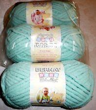 Bernat Baby Blanket Yarn Lot of 3 - SEAFOAM (mint green)
