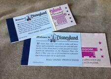 Vintage Disneyland Ticket Book Lot Of 2