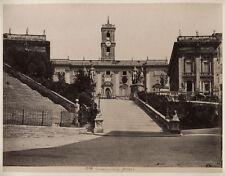 VINTAGE ALBUMEN PHOTO 1880S. CAPITOLINE HILL, ROME, ITALY.