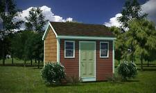 8 x 12 Storage Shed Plans Gable Roof, Step By Step How To Build Guide & Drawings