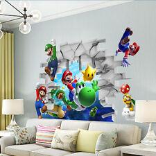 Adesivo parete 3D Super mario wall Cameretta bambini Casa Muro Wall Stickers