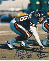 Keith Van Horne Chicago Bears Autographed 8x10 Photo With HOF Inscription