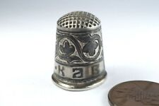 ANTIQUE RUSSIAN SILVER NIELLO ENAMEL THIMBLE c1900