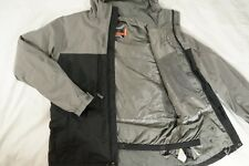 BURTON Gray Black Shell Ski Snowboard Jacket Full Zip Winter Sport Ride - Small