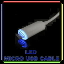 LED Cavetto Micro USB Data Caricatore Cavo per HTC LG Samsung Galaxy S3 S4
