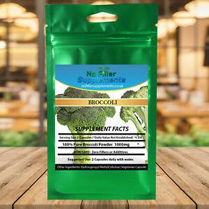 Superfood 100% Pure Broccoli Vegetable Capsules No Fillers Sulforaphane NON-GMO