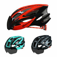 ROCKBROS Bicycle Helmets Road Bike MTB Riding Helmet With Black Goggle Size L/XL