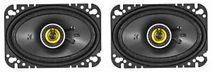 "Pair KICKER 46CSC464 4x6"" 300 Watt 4-Ohm 2-Way Car Audio Coaxial Speakers CSC464"